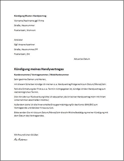 Mieter Kündigen Frist by Das Muster Einer K 252 Ndigung Kostenlose Vorlagen Ratgeber