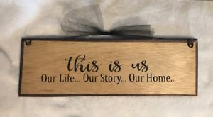 Thanks for all the messages and… This is Us our Life our Story our Home country inspiration wall decor wood sign | eBay