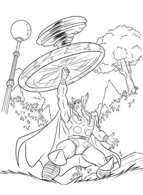 thor 29 printable coloring pages
