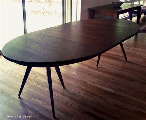 reclaimed dining table custom solid walnut tripod oval expanding dining table by