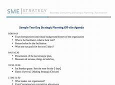 Sample Strategic Planning Agenda 2 days