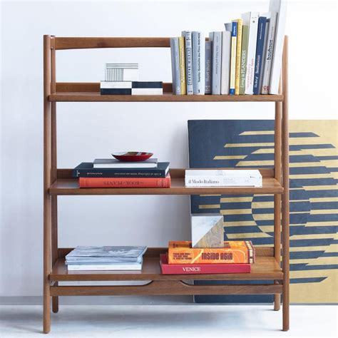 mid century modern bookcase mid century modern bookcase for small library at home