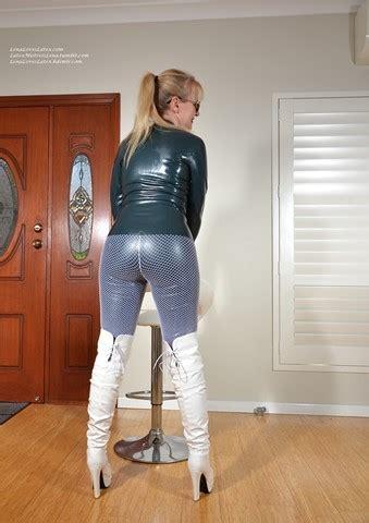photo set latex  white boots   lena loves