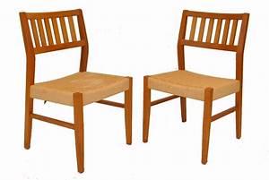 Tischbeine Mid Century : pair of mid century modern teak dining room chairs by sun cabinet co ebay ~ Markanthonyermac.com Haus und Dekorationen