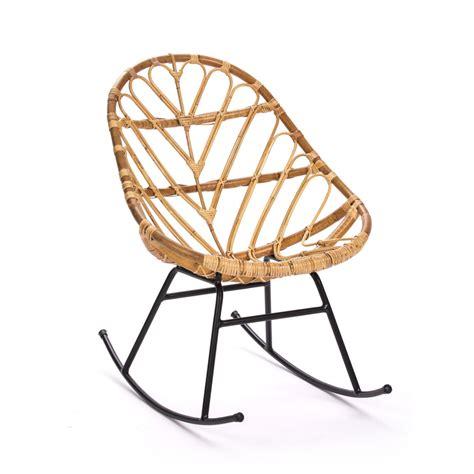 rocking chair en rotin rocking chair vintage en rotin ette drawer