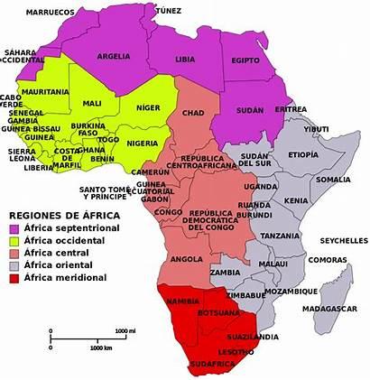 Africa Map Regions Svg Archivo Mapa African