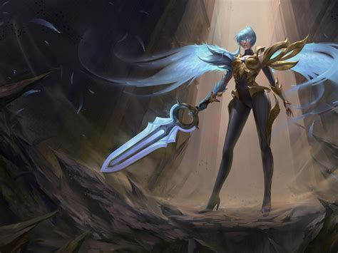 wallpaper dawnbringer riven league  legends hd games