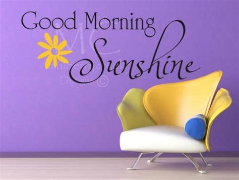 Items Similar To Wall Decal Good Morning Sunshine, Decals