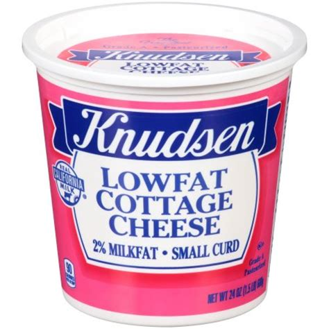 knudsen cottage cheese knudsen small curd lowfat cottage cheese 24 oz tub