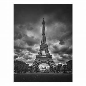 Glasbild Schwarz Weiß : glasbild eiffelturm vor wolken schwarz wei hochformat 4 3 ~ A.2002-acura-tl-radio.info Haus und Dekorationen