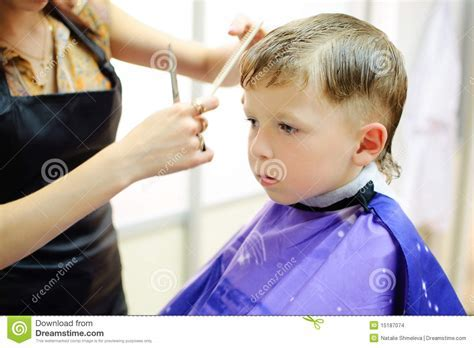Boy Getting Haircut Stock Images   Image: 15187074
