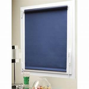 store enrouleur occultant bleu 37x170cm stores rideau With store d interieur occultant