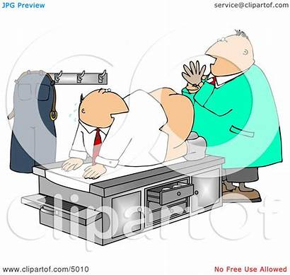 Clipart Patient Male Prostate Doctor Examination Humorous