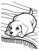 Puppy Coloring Cute Pages Printable Super sketch template