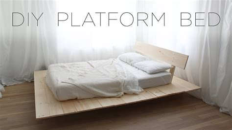 diy platform bed modern diy furniture projects