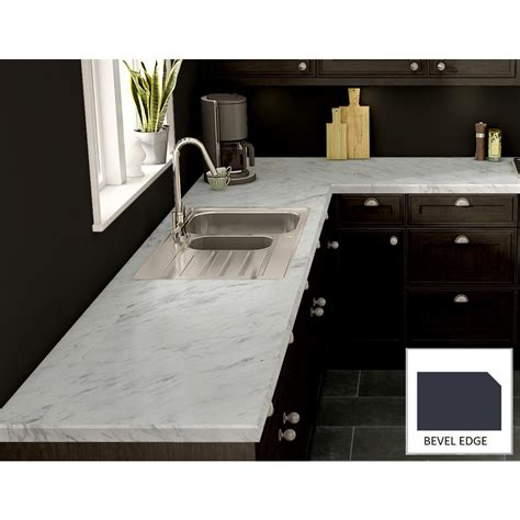 laminate marble countertop wilsonart calcutta marble laminate custom bevel edge c f