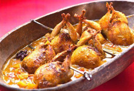 comment cuisiner les cailles au four caille à l indienne chutney betterave abricot et tomate