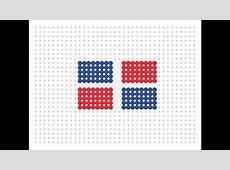 Hama Bead Dominican Republic Flag Flag Series 2 #11