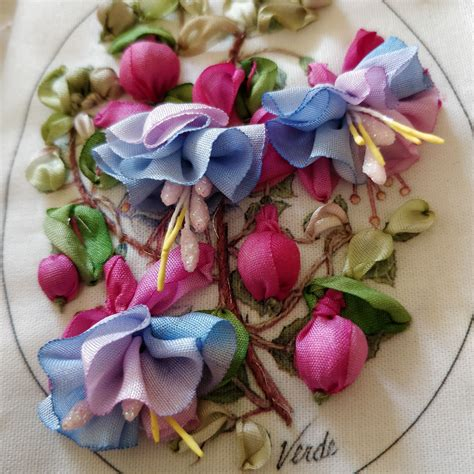 silk ribbon embroidery designed   van niekerk