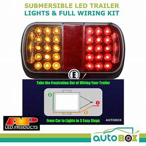 Submersible Led Trailer Lights And Full Wiring Kit Boat