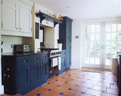 farrow and green blue kitchen from country style to contemporary how to transform a 9664