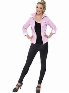 Adult Grease Pink Ladies Jacket Fancy Dress Costume 1950s ...