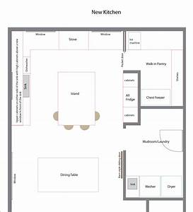 Kitchen Floor Plan With Walk In Pantry great kitchen