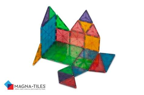 Valtech Magna Tiles Clear Colours 100 Pack by Magna Tiles Clear Colors 100 Set Hardware Building