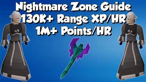 nightmare zone range magic guide xp hr 130k updated