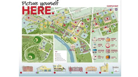 SUNY Plattsburgh campus map | Maps & Infographics ...