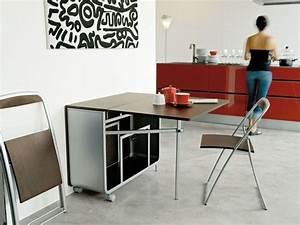 Table Cuisine étroite : la table de cuisine pliante 50 id es pour sauver d 39 espace cuisine deco ~ Teatrodelosmanantiales.com Idées de Décoration