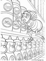 Bee Coloring Movie Colouring Barry Honey Printable Stolen sketch template