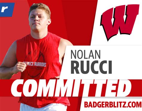 Four-star OL Nolan Rucci commits to the Wisconsin Badgers ...