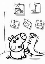George Pig Coloring sketch template