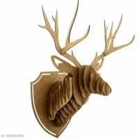 Trophée Tête De Cerf : formes en bois acheter forme bois au meilleur prix creavea ~ Teatrodelosmanantiales.com Idées de Décoration