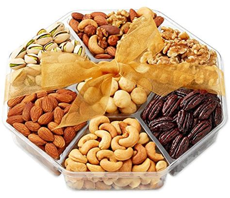holiday gourmet food nuts gift basket 7 different nuts five star gift baskets nuts gift basket gourmet food gifts prime delivery mothers fathers day fruit nut