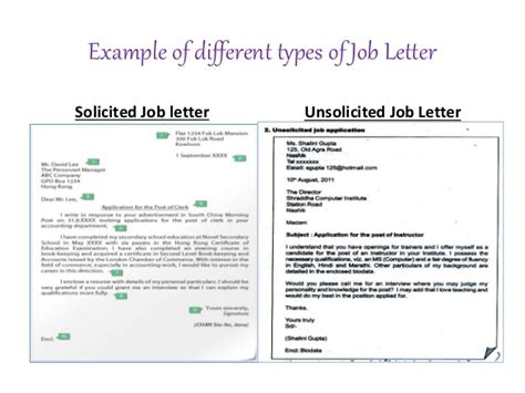 Unsolicited Cover Letter Examples Costumepartyrun