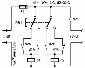 emil matei on off switch using 2 relays four versions With push on off relay