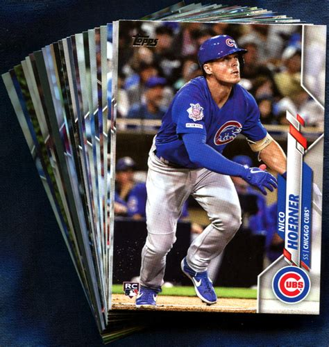 topps chicago cubs baseball cards team set