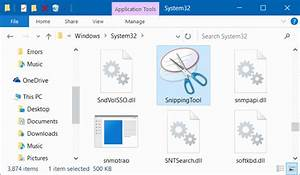 Fix  Snipping Tool Missing From Windows 10