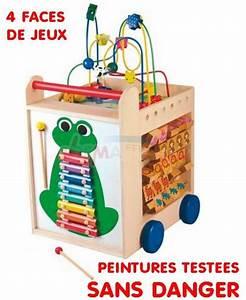 Cube En Bois Bébé : multijeux cube en bois enfant 5 plateformes d 39 veil de jeux jouets en bois ~ Melissatoandfro.com Idées de Décoration