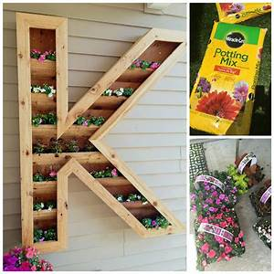 diy cedar monogram planter box ellery designs With wooden letter planter