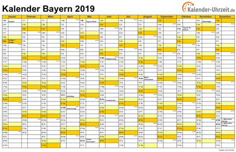 bayern sommerferien 2019 feiertage 2019 bayern kalender