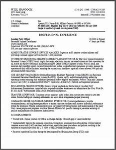 Resume format best resume format for federal jobs for Federal resume template word