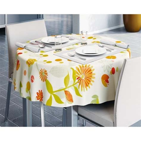 wipe clean table cloth pvc wipe clean vinyl table cloth floral orange 140cm x