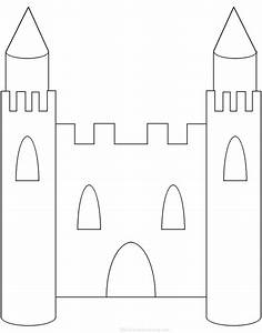 adjectives describing a castle printable worksheet With cut out castle template