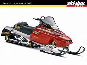 Ski Doo Snowmobile Service Manual All 2001 Models
