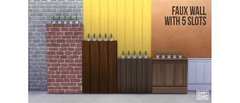 sims  blog faux walls   slots  ohmysims