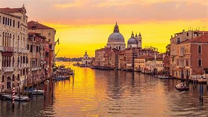 Venice Italy Canal Grand Sunset Wallpapers Reflected