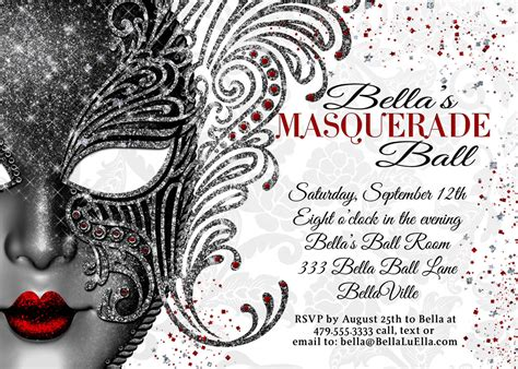 masquerade invitations templates